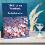 """LIKE Us On Facebook plaque Count Sign Spring<br><div class=""""desc"""">LIKE Us On Facebook plaque Count Sign Spring Add Facebook Address BLOSSOMS Custom nature plaques PINK TREE Blossoms FLORAL gifts, custom retails counter Plaques PINK Blossoms Floral plaque signs. Thank you for Liking and Sharing our Art Gift Site with your family, friends and coworkers. Bookmark this site for great Nature...</div>"""