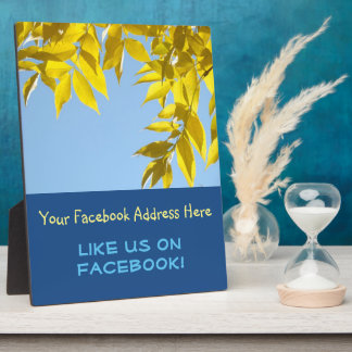 Like Us on Facebook plaque counter sign Autumn