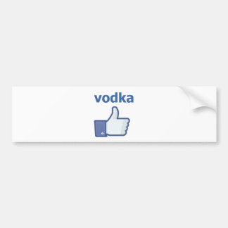 LIKE vodka Bumper Sticker