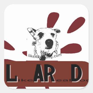 likeARealDog Logo Square Sticker