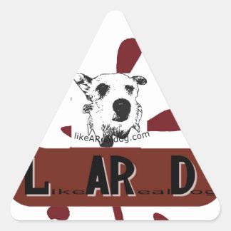 likeARealDog Logo Triangle Sticker