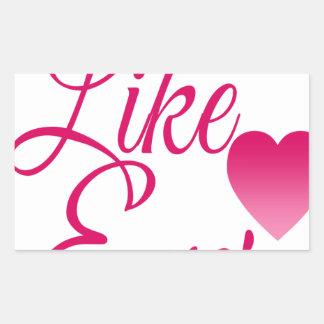 LikeEver.png Rectangular Sticker
