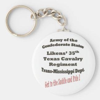 Likens' 35th Texas Cavalry Key Chain