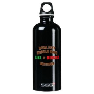 Likes and Dislikes Aluminum Water Bottle