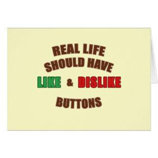 Likes and Dislikes Card