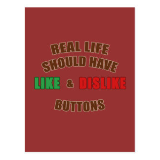 Likes and Dislikes Postcard