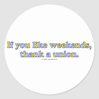 LikeWeekends Classic Round Sticker
