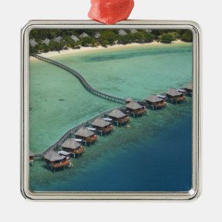 Likuliku Lagoon Resort, Malolo Island, Fiji Square Metal Christmas Ornament