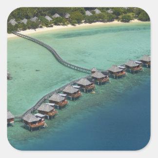 Likuliku Lagoon Resort, Malolo Island, Fiji Square Sticker