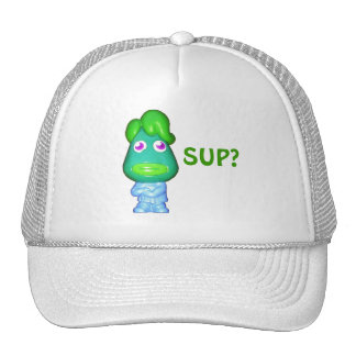 "Lil Alien dude says, ""Sup?"" Trucker Hat"