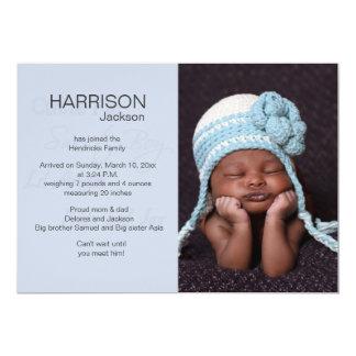 "Lil Angel Photo Birth Announcement 5"" X 7"" Invitation Card"