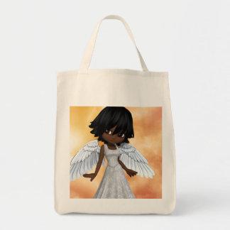 Lil Angels 2 Grocery Tote Bag
