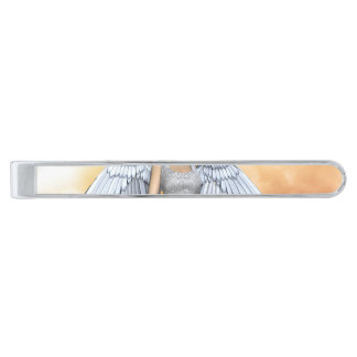 Lil Angels 2 Silver Finish Tie Clip