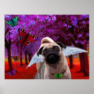 Lil Angels Pug Poster