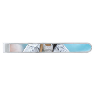 Lil Angels Silver Finish Tie Clip