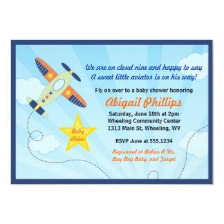 Lil' Aviator Airplane Baby Shower Invitations