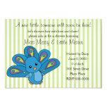 "Lil' Baby Peacock 5"" X 7"" Invitation Card"