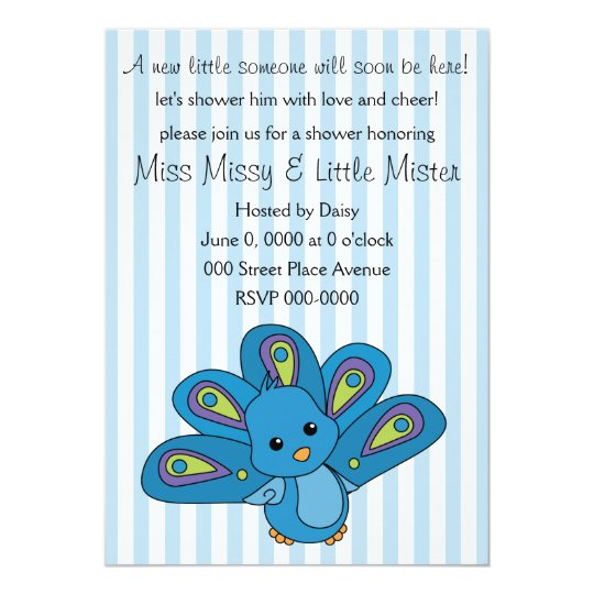 Lil' Baby Peacock Card