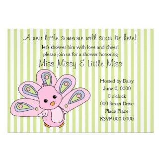 Lil' Baby Peacock Custom Invitations