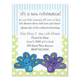 "Lil' Baby Peacock 4.25"" X 5.5"" Invitation Card"