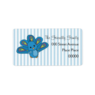 Lil' Baby Peacock Personalized Address Labels