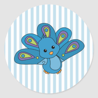 Lil' Baby Peacock Classic Round Sticker