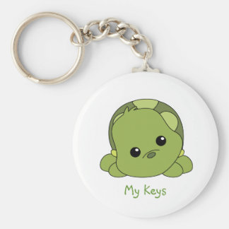 Lil Baby Turtle Basic Round Button Keychain
