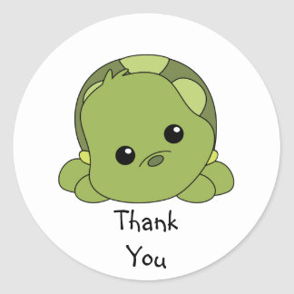 Lil Baby Turtle Classic Round Sticker