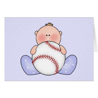 Lil Baseball Baby Boy Card