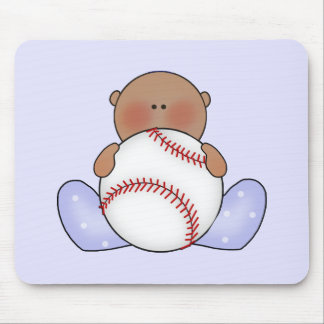 Lil Baseball Baby Boy - Ethnic Mouse Pad