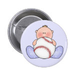 Lil Baseball Baby Boy Pinback Button