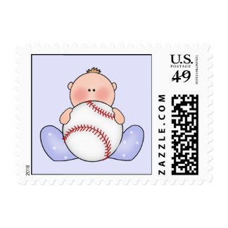 Lil Baseball Baby Boy Postage Stamps