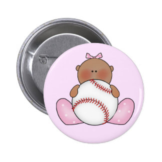 Lil Baseball Baby Girl - Ethnic Buttons