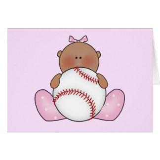 Lil Baseball Baby Girl - Ethnic Card