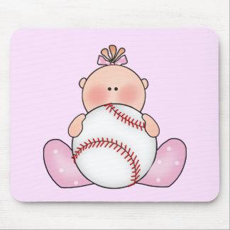 Lil Baseball Baby Girl Mouse Pad