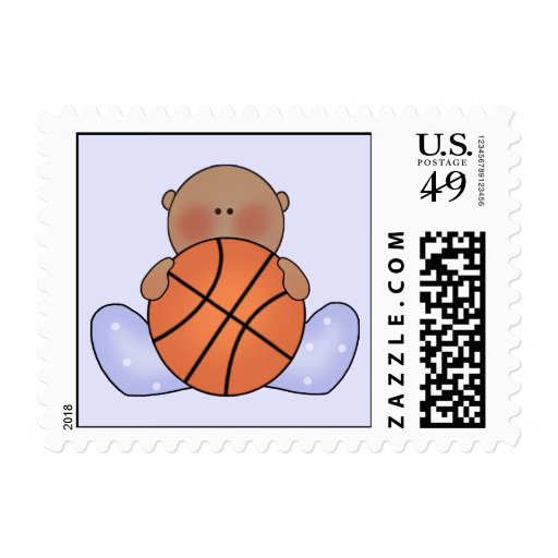 Lil Basketball Baby Boy - Ethnic Stamps
