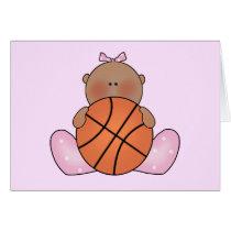 Lil Basketball Baby Girl - Ethnic Card