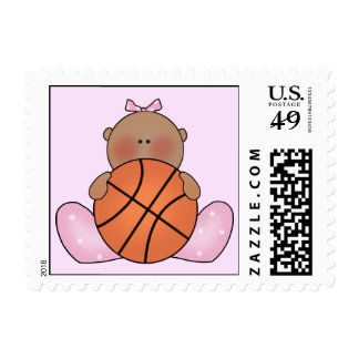 Lil Basketball Baby Girl - Ethnic Stamps
