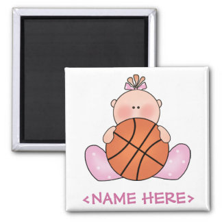 Lil Basketball Baby Girl Refrigerator Magnet