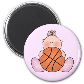 Lil Basketball Baby Girl Magnets