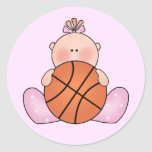Lil Basketball Baby Girl Stickers