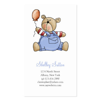 Lil' Bears · Baby Boy Balloon Business Card Template