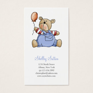 Lil' Bears · Baby Boy Balloon Business Card