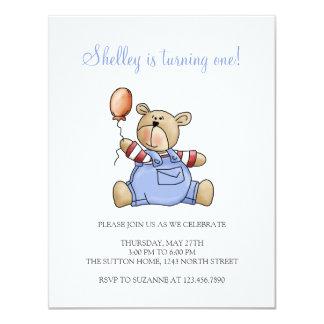 Lil' Bears · Baby Boy Balloon Card