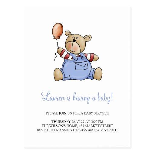 Lil' Bears · Baby Boy Balloon Post Cards