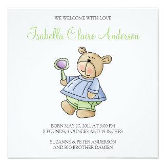 Lil' Bears · Baby Boy Blue & Green Pyjamas Card