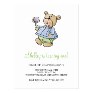 Lil' Bears · Baby Boy Blue & Green Pyjamas Postcard