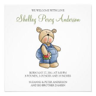 Lil' Bears · Baby Boy Blue Romper Announcements