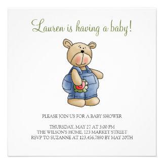 Lil' Bears · Baby Boy Blue Romper Custom Announcements
