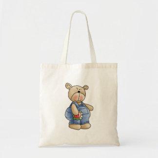Lil' Bears · Baby Boy Blue Romper Tote Bag